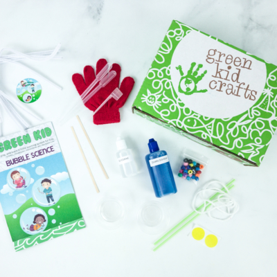 Green Kid Crafts BUBBLE SCIENCE Subscription Box Review + 50% Off Coupon!