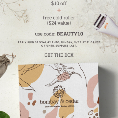 Bombay & Cedar Fall/Winter 2019 Limited Edition Box Spoiler #1 + Coupon!
