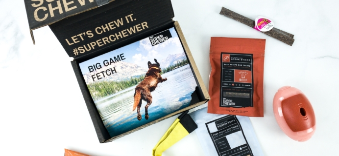 Super Chewer September 2019 Subscription Box Review + Coupon!
