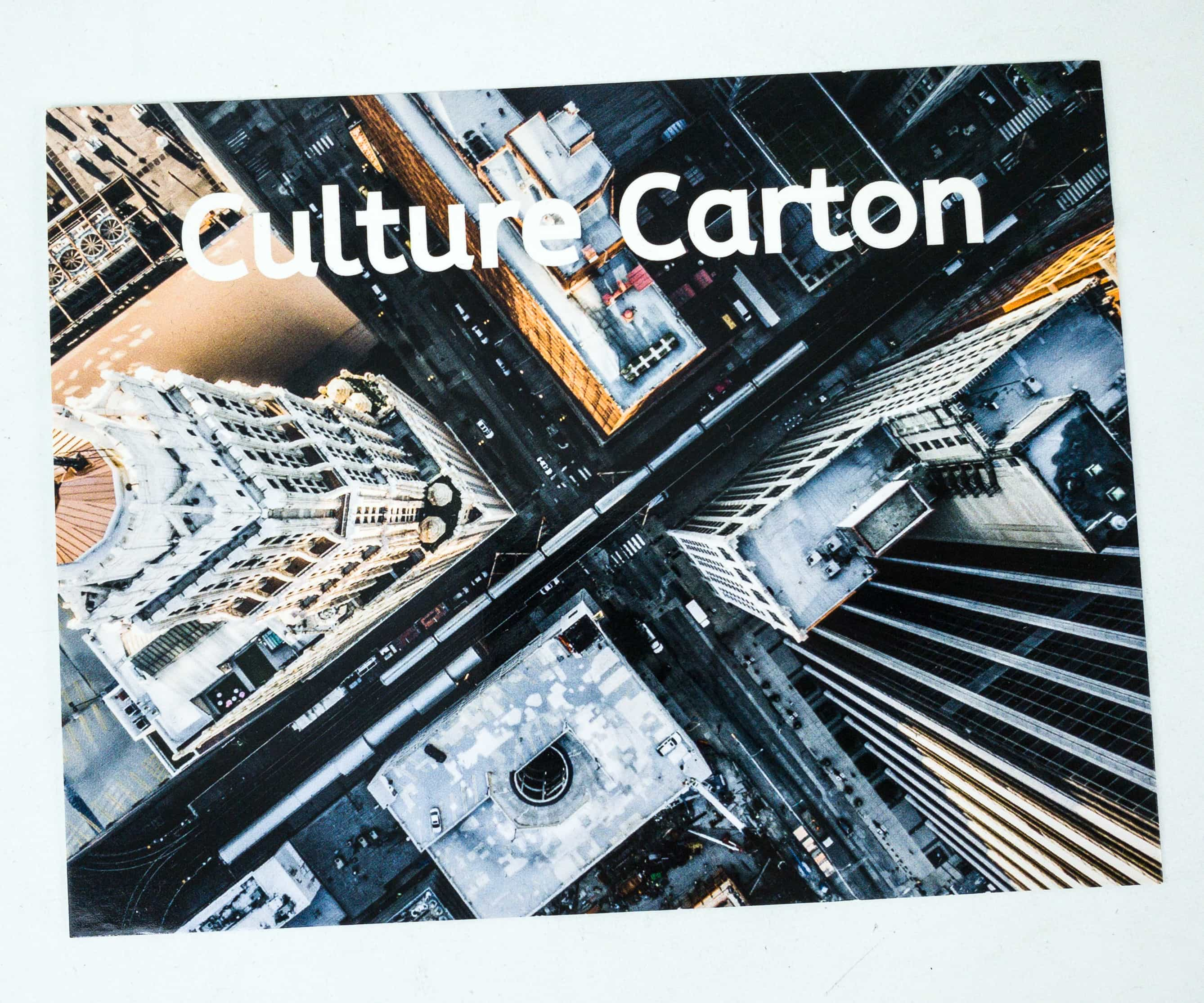 Culture Carton August 2019 Subscription Box Review + Coupon