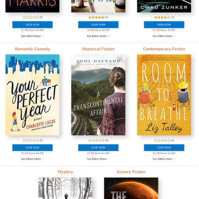 Amazon First ReadsOctober 2019 Selections: 1 Book Free for Amazon Prime Members