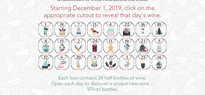 2019 Flying Blue Imports Wine Advent Calendar Coming Soon!