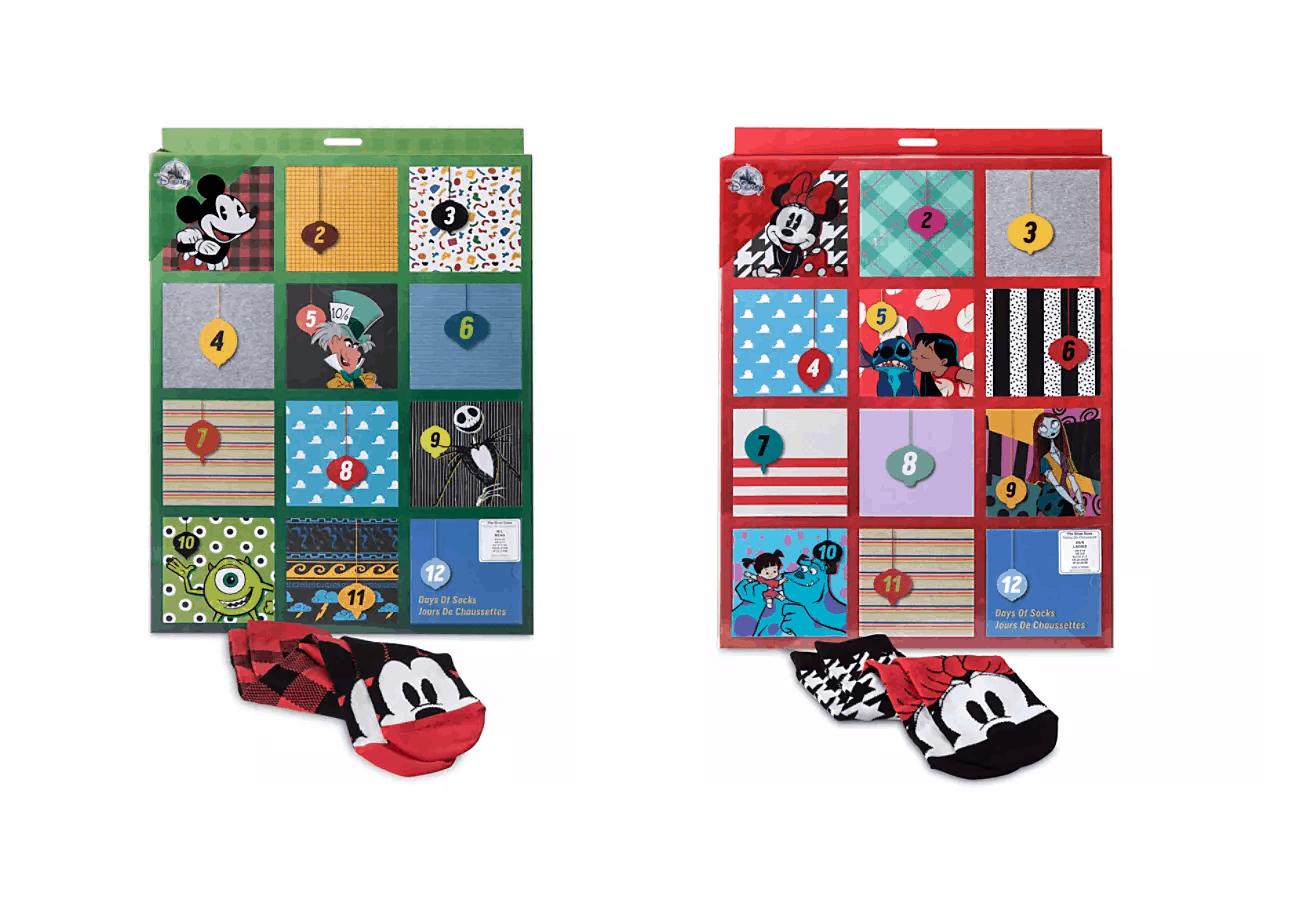 shopDisney 2019 Disney Socks Advent Calendars Now Available!