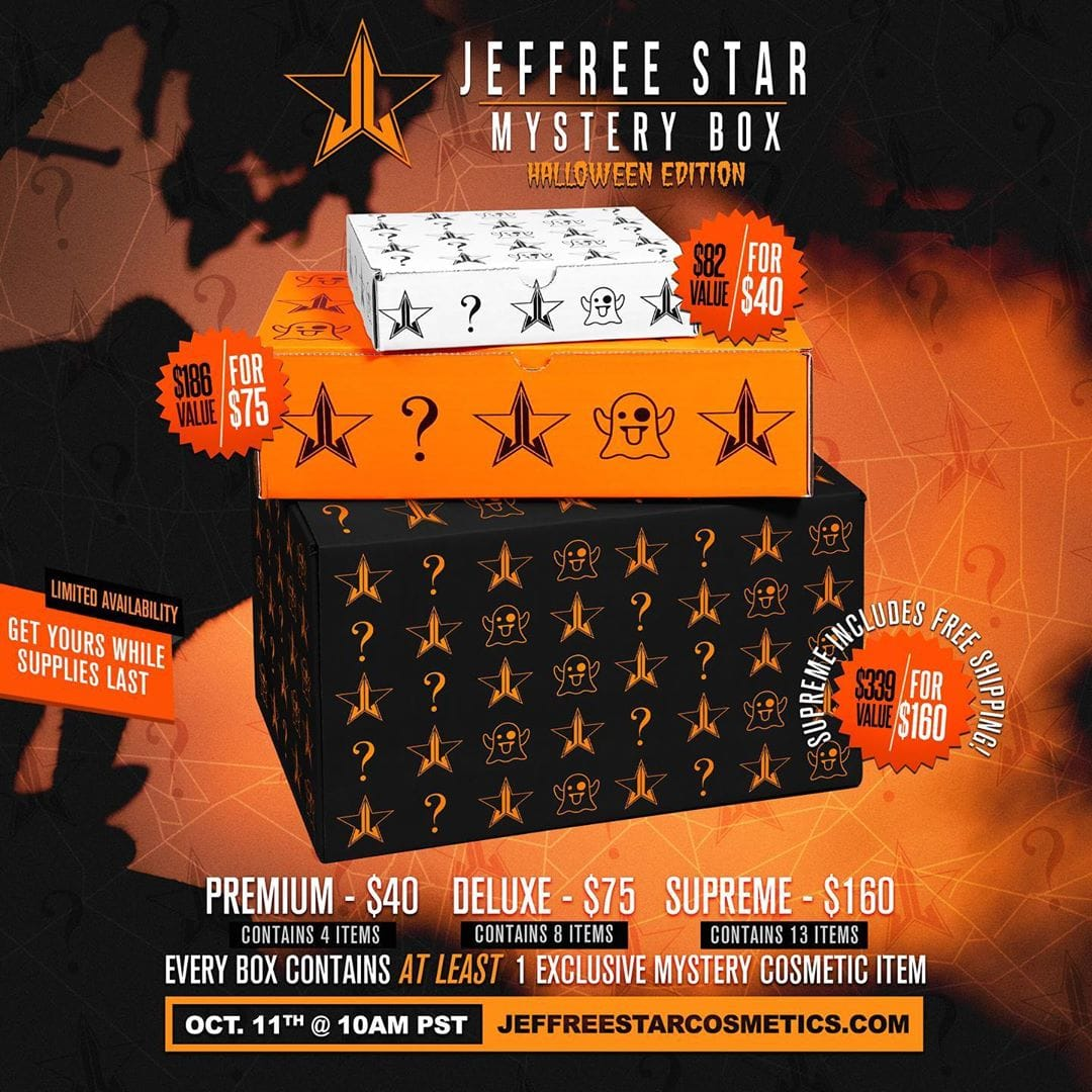 Jeffree Star Mystery Box Halloween 2019 Edition Available Now!
