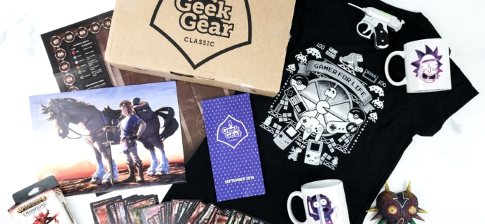 Geek Gear Box September 2019 Subscription Box Review + Coupon