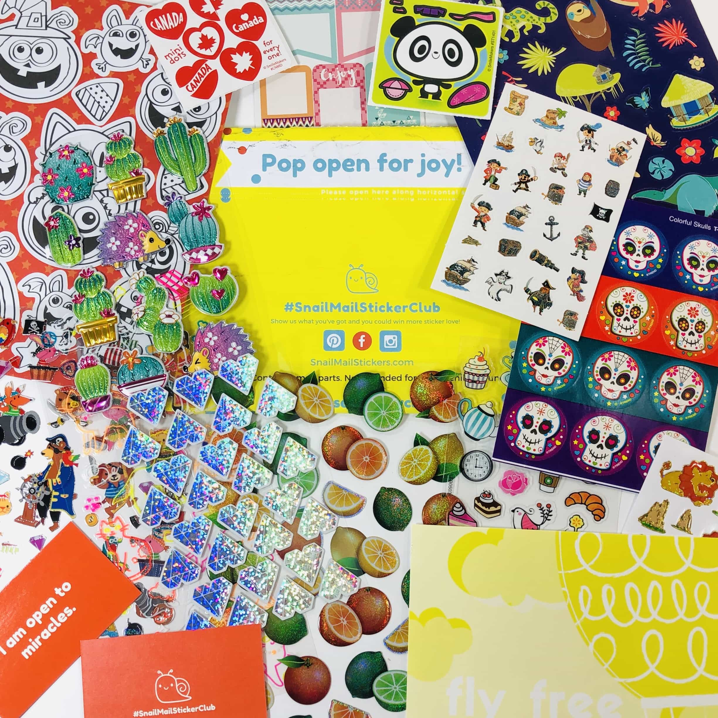 Snail Mail Sticker Club October 2019 Subscription Box Review + Coupon
