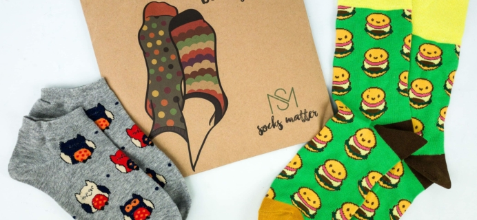 Socks Matter September 2019 Subscription Box Review + Coupon