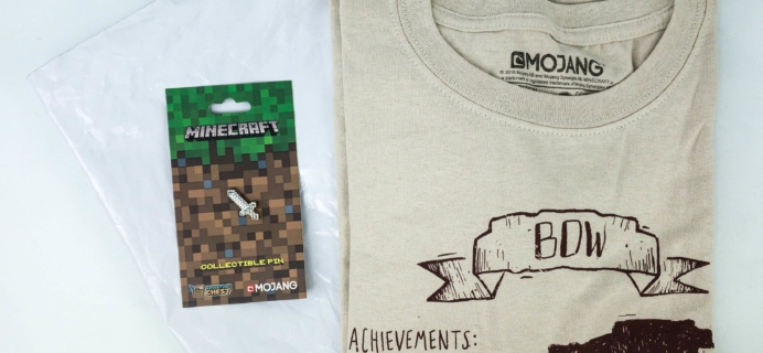 Minecraft T-Shirt Club October 2019 Subscription Box Review