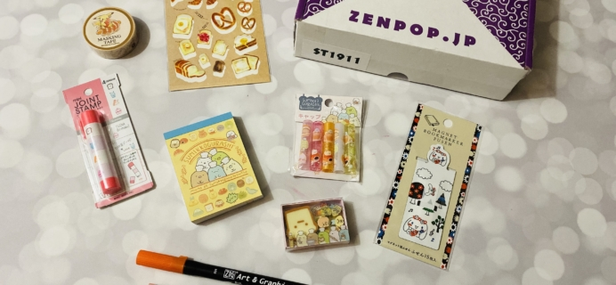 ZenPop Japanese Packs November 2019 Review – Stationery Box