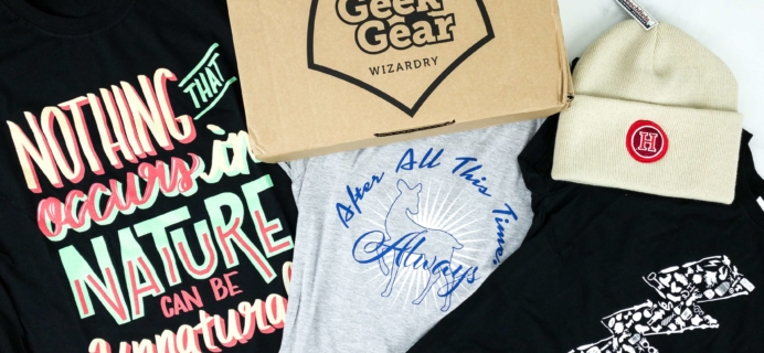 Geek Gear World of Wizardry Wearables September 2019 Subscription Box Review & Coupon