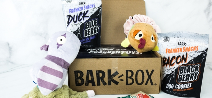Barkbox October 2019 Subscription Box Review + Coupon – Large Dog