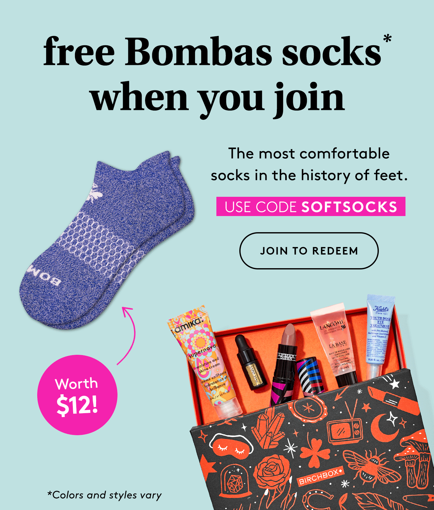 Birchbox Coupon Code: FREE Bombas Socks!