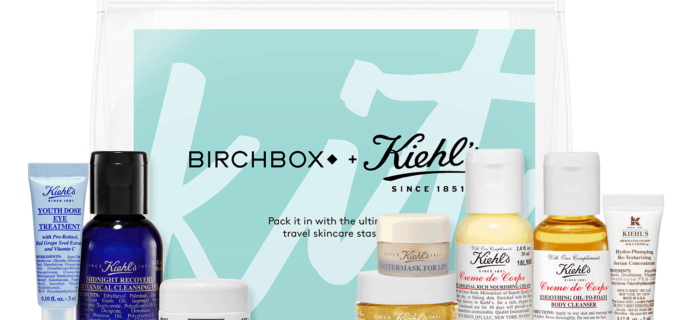 The Birchbox x Kiehl's On-the-Go Kit – New Birchbox Kit Available Now + Coupons!