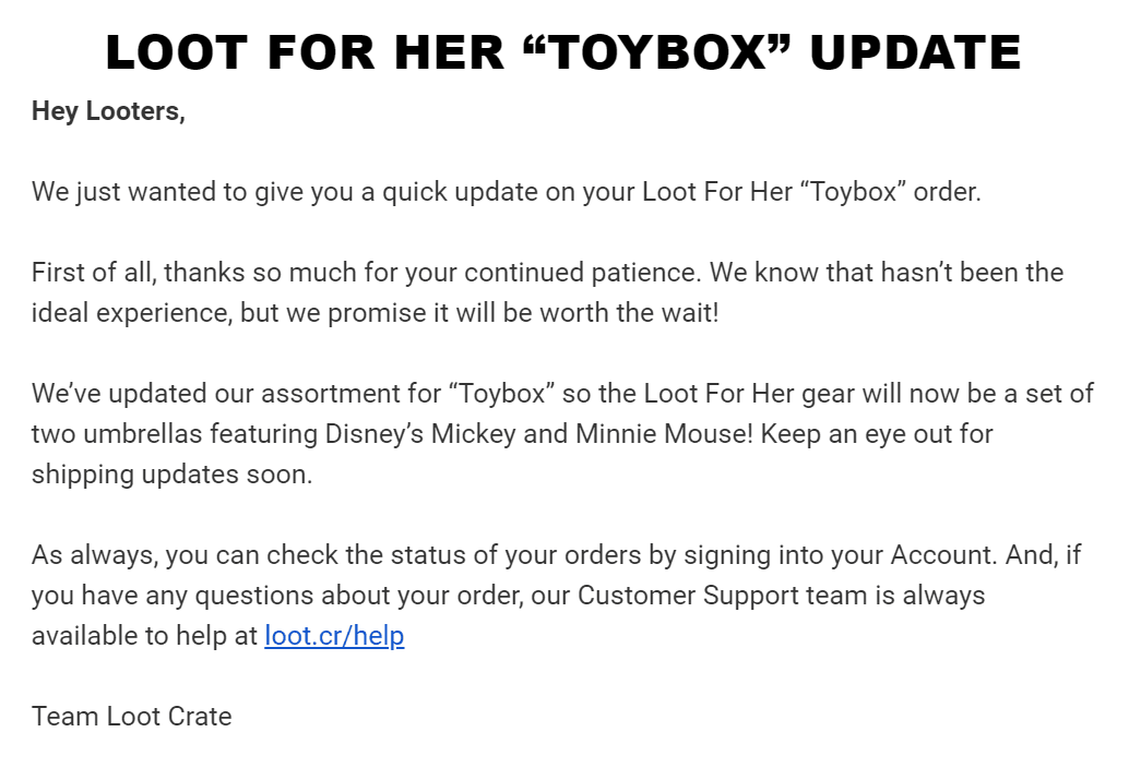 Loot for Her June 2019 Update!