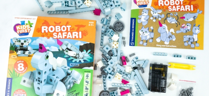 Amazon STEM Toy Club Subscription Box Review – 5 to 7 Year Old Box ROBOT SAFARI
