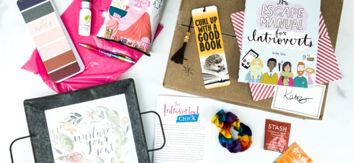 The Introverted Chick October 2019 Subscription Box Review + Coupon
