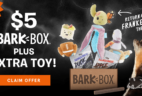 BarkBox Coupon: First Box $5 + FREE Extra Toy + Halloween Theme Available Guarantee!