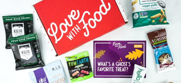 Love With Food October 2019 Tasting Box Review + Coupon!
