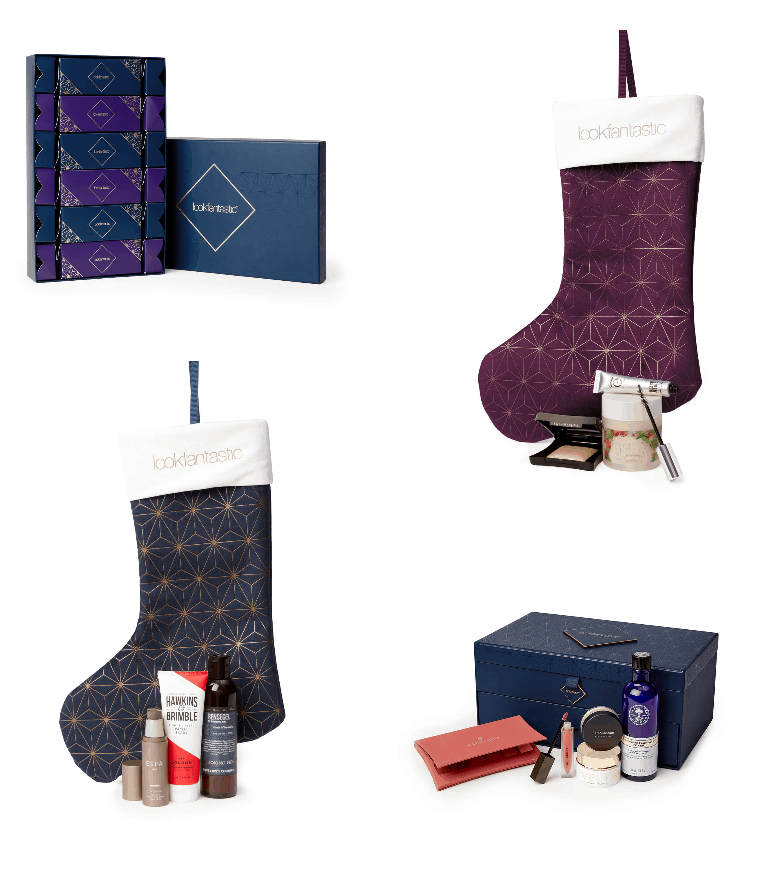 Look Fantastic Holiday Gifts Available Now: Beauty Chest, Christmas Crackers, and Christmas Stockings!