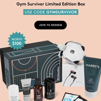 Birchbox Grooming Coupon: FREE Gym Survivor Limited Edition Box!