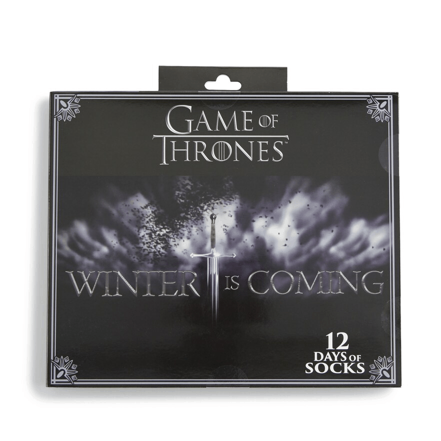 New 2019 Game of Thrones Socks Advent Calendar Available Now!