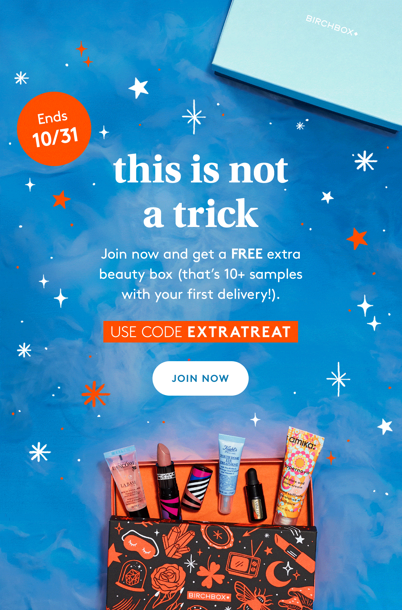 Birchbox Halloween Coupon: FREE Beauty Box with Subscription!