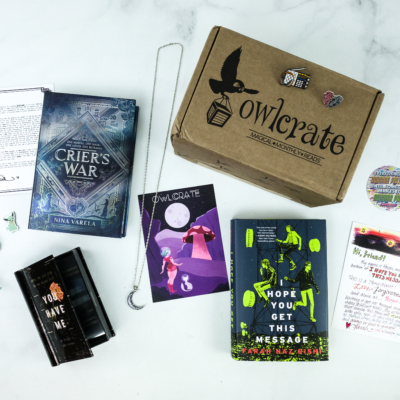 OwlCrate October 2019 Subscription Box Review + Coupon