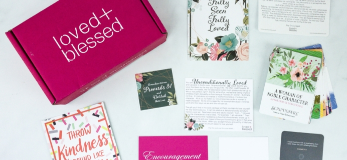 Loved+Blessed November 2019 Subscription Box Review + Coupon