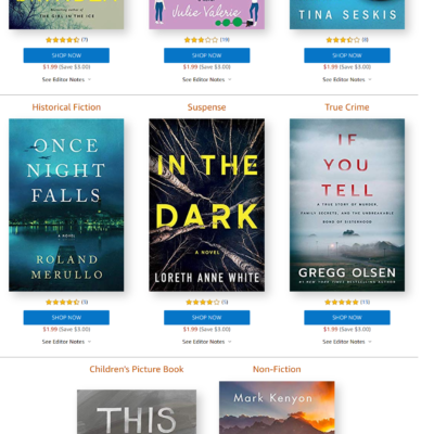Amazon First Reads November 2019 Selections: 1 Book Free for Amazon Prime Members