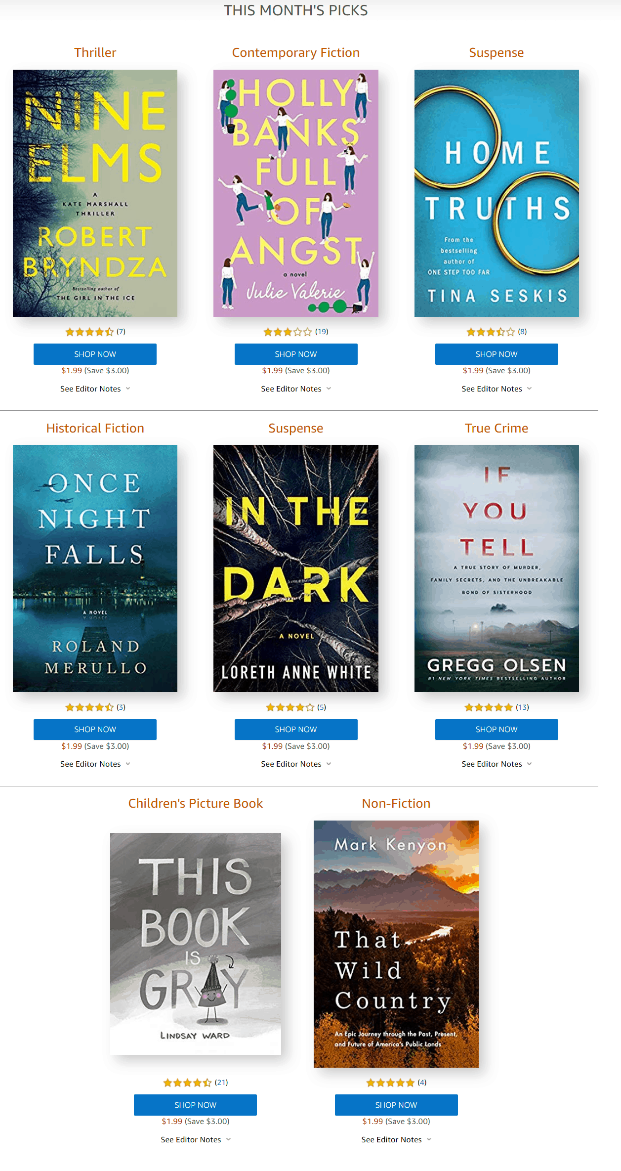 Amazon First ReadsNovember 2019 Selections: 1 Book Free for Amazon Prime Members
