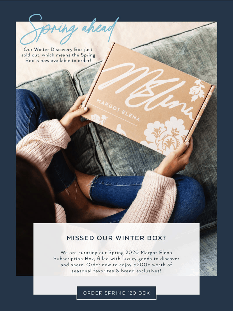 Spring 2020 Margot Elena Discovery Box Available Now