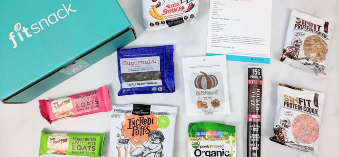 FitSnack October 2019 Subscription Box Review & Coupon
