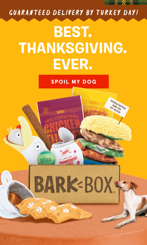 BarkBox CYBER MUTTDAY Coupon EXTENDED: First Box $5 + FREE Bonus Toy!