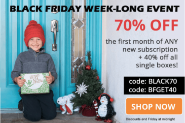 Green Kid Crafts Black Friday Sale ENDS TONIGHT:  70% Off First Box!