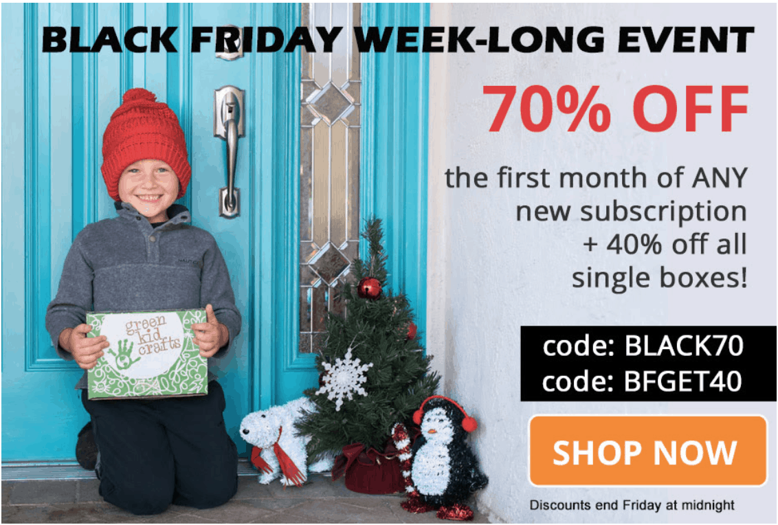 Green Kid Crafts Black Friday 2019 Coupon: Get Up To 70% Off!