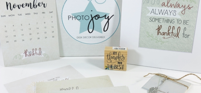 Photo Joy Box November 2019 Subscription Box Review + Coupon