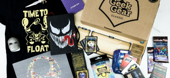 Geek Gear Box October 2019 Subscription Box Review + Coupon