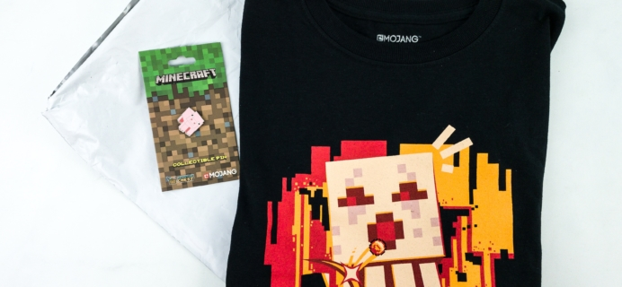 Minecraft T-Shirt Club November 2019 Subscription Box Review