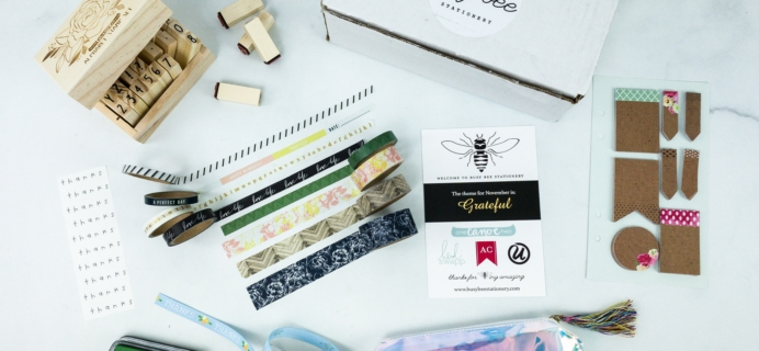 Busy Bee Stationery November 2019 Subscription Box Review