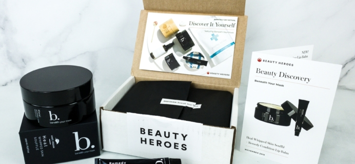 Beauty Heroes November 2019 Subscription Box Review