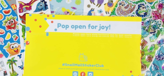 Snail Mail Sticker Club November 2019 Subscription Box Review + Coupon