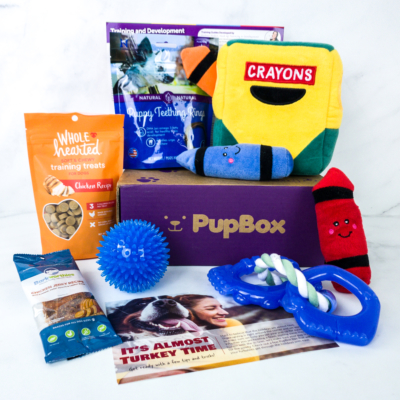 PupBox November 2019 Subscription Box Review + Coupon!