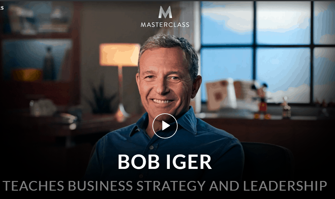 MasterClass Bob Iger Class Available Now!