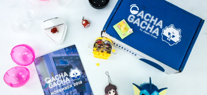 Gacha Gacha Crate November 2019 Subscription Box Review + Coupon