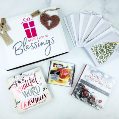 Bette's Box of Blessings Subscription Box November 2019 Review + Coupon