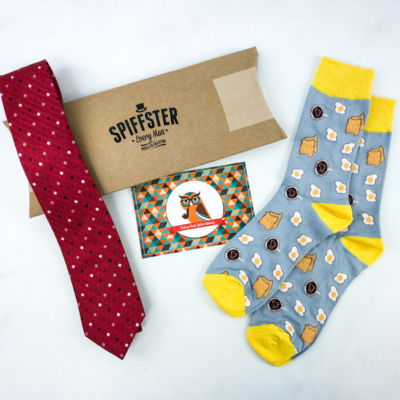 Spiffster Tie + Sock Subscription November 2019 Review & Coupon