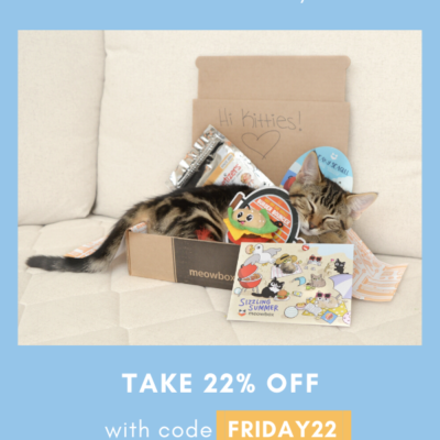 Meowbox Black Friday Coupon: 22% Off Subscriptions!