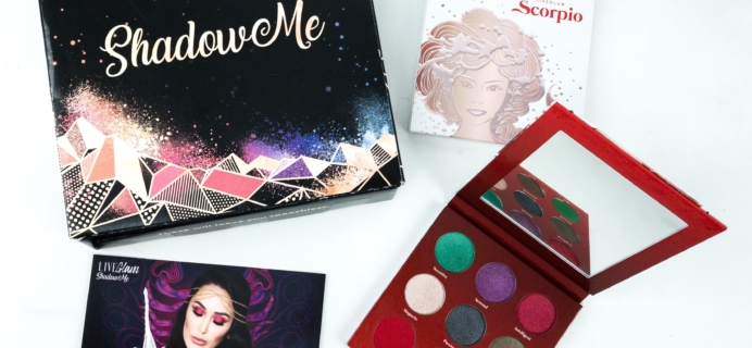 LiveGlam ShadowMe November 2019 SCORPIO Bonus Palette Review + COUPON