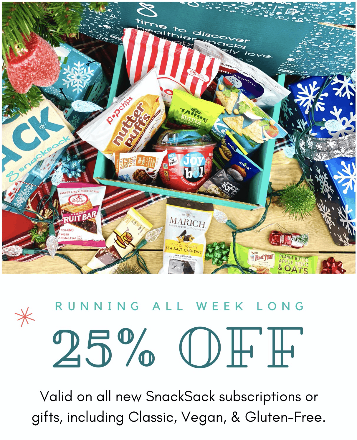 SnackSack Cyber Monday Coupon: Save 30% on any SnackSack plan!