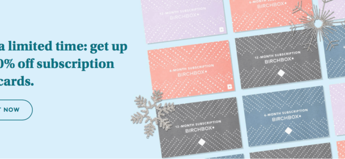 Birchbox Before Black Friday Sale: Subscription Gift Cards 30% Off!
